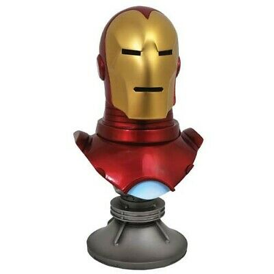 Marvel Legends in 3D Busts - Comics - 1/2 Scale Iron Man Diamond Select Toys