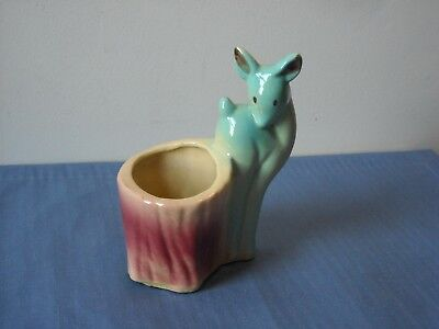 "Vintage Shawnee Deer Planter USA #535 5 7/8"" Tall"