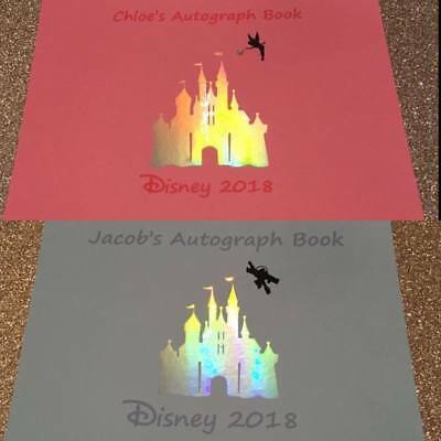 A5 Personalised Autograph Book Magical Iridescent Castle Disney Inspired