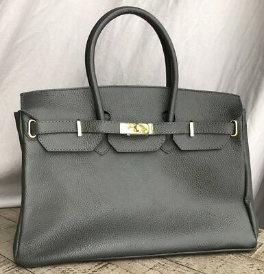 AUTHENTIC ARISTOLASIA LARGE Leather Handbag Made in Italy Orig Dust ... ce427a2478907