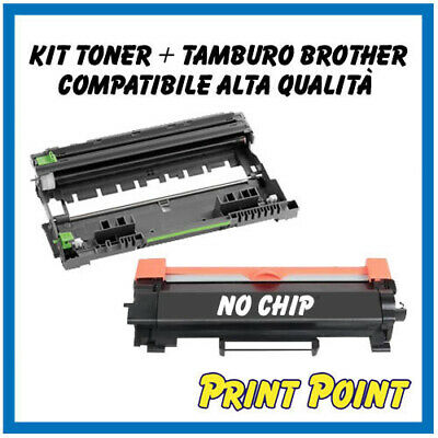 Toner + Tamburo Compatibile Per Brother TN2420 DCP L2550DN MFC L2710DN