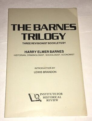 The Barnes Trilogy Harry Elmer Barnes Three Revisionist Booklets 1978 WWII Rare