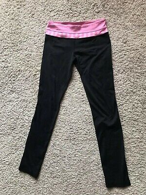 be2b04119 LULULEMON SKINNY GROOVE Pants High Rise Black Yoga Run Straight Leg ...