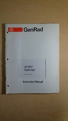 GenRad GR 1657 Megahertz Digibridge Instruction Manual 7E B2