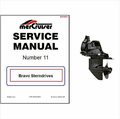 1988-1998 Mercury MerCruiser # 11 Bravo Sterndrive Service Manual CD