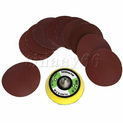100PCS 50mm 2Inch Orbital Hook Loop Sanding Discs Pad Sandpaper 60-2000 Grit