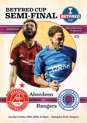 Aberdeen v Rangers - Betfred Scottish League Cup Semi-Final - 28 October 2018
