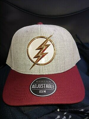 88bb3c73 Dc Comics Rebirth Flash Logo Curved Bill Snapback Hat Cap Sublimated  Underbill