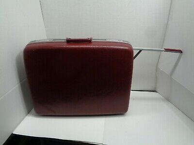 Vintage Samsonite Profile ll Maroon Briefcase  Hard Suit Case Luggage 25X20