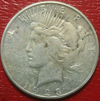 1923-S Peace Silver Dollar $ , VERY FINE , US Coin,