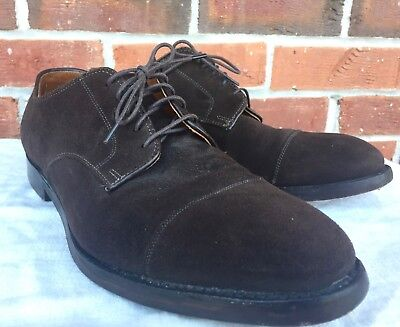 e317aeeefa6 BROOKS BROTHERS Men s BROWN SUEDE DERBY OXFORD BUCKS SHOES Size 9.5 D VGC