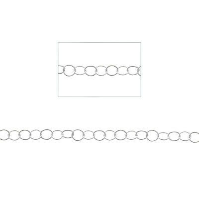 Sterling Silver, Braided Round Link Chain, 10ft, Chain by the Foot