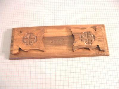 Vintage Olivewood Sliding Book Holder, Expanding Bookends from Jerusalem