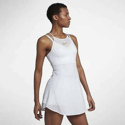 Nike Court Maria Sharapova Women Tennis Dress - White Gold Leaf 888198-100 - S