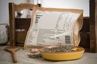 Organic Chia Seeds Natural Weight Loss & Detox With GLUTEN FREE Whole Raw Chia