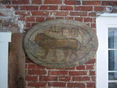 Antique GOLDEN LION TRADE SIGN Folk Art/ Primitive/ Anonymous/ Tavern/ aafa