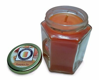 Pumpkin Pie Scented 100 Percent  Beeswax Jar Candle, 8 oz