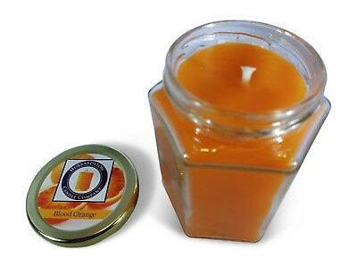 Blood Orange Scented 100 Percent  Beeswax Jar Candle, 8 oz