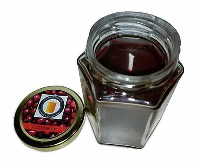 Cranberry Scented 100 Percent  Beeswax Jar Candle, 8 oz