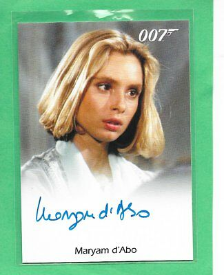 2016 OO7 James Bond Archives Spectre Edition Maryam D'Abo  Full Bleed Autograph