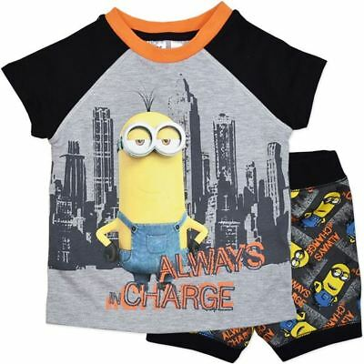 New Despicable Me Minions Always In Charge Boys Pj Pyjamas Set Size 2,3,4,5,6,7