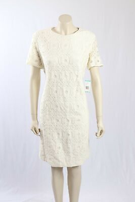 NEW Evan Picone Size 18- Cream colour dress with Lace overlay-RRP:$199.00