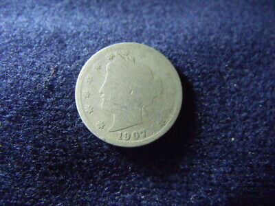 1907 LIBERTY ~V~ NICKEL  GOOD CONDITION...  free shipping as always J-73