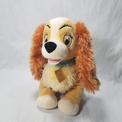 Disney Store Exclusive Lady Plush Dog Puppy Tramp Cocker Spaniel Animal Stuffed