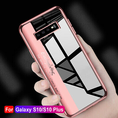 Shockproof Clear Plating Soft Silicone Case Cove For Samsung Galaxy S10+ S10e