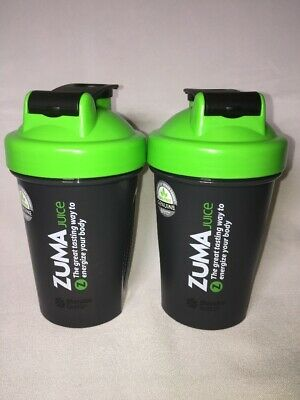 New ZUMA Juice 20 oz. Blender Bottle + Ball (Set of 2)