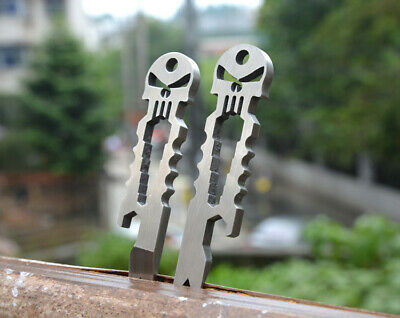 Stainless Steel Hoe Tactical EDC Portable Pocket Multi-tools Keychain