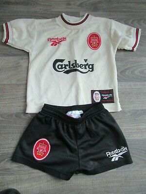 huge selection of 4b3cf 2e999 LIVERPOOL FC 1996-97 Away Reebok Football Kit - Infant Toddler - Age 2-3  years
