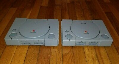 Lot of 2 Original Sony PlayStation PS1 Console Systems (SCPH-9001) FOR PARTS