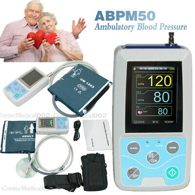 CE Upper Arm Ambulatory Blood Pressure Monitor 24H sphygmomanometer USB Software