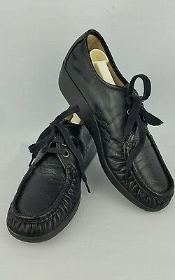 bece38cbacb SAS Oxford Loafers 8 S Black Hand Sewn Comfort Walking Shoes Granny Leather