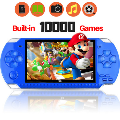 """Portable 4.3"""" 10000 Games Built-in Handheld Video Game Console Player 8GB Gift"""