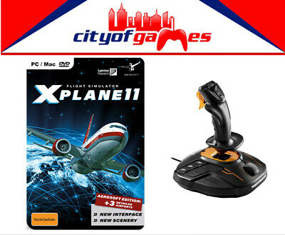 X-PLANE 11 AEROSOFT Edition PC & Thrustmaster T 16000M FCS Joystick PC  Bundle
