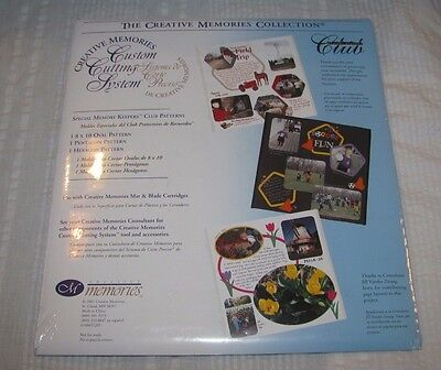 NEW Creative Memories Custom Cutting System SPECIAL MEMORY KEEPERS CLUB Patterns