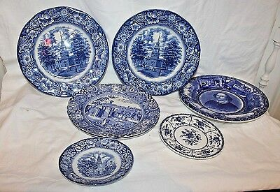 Liberty Blue Staffordshire Ironstone China and more - Lot of 6 Pieces Mixed