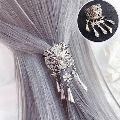 Ancient Chinese Style Metal Alloy Hair Clips Hollow Out Carving Floral Hairgrip