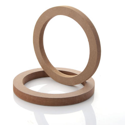 """2-MDF Mounting Spacer Rings For 6.5"""" Speakers"""