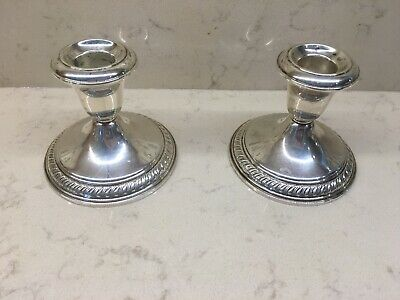 Vintage Pair of Sterling Silver Wallace Candle Sticks