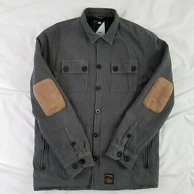 3a3c325c9c7 Analog AG By Burton Men s Snowboard Jacket Large Gray Elbow Patches Button  Front