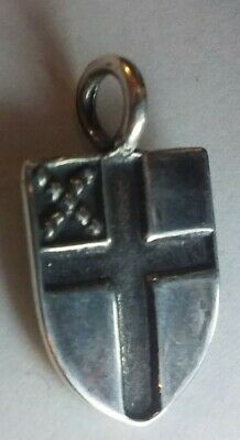 EPISCOPAL SHIELD Sterling silver pendant - crafted by artist Sherridan Smith
