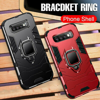 For Apple iPhone X XS 8 6 6S Plus Shockproof Ring Stand Rugged Hybrid Case Cover