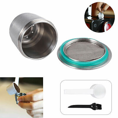 Stainless Steel Nespresso Pod Reusable Coffee Capsule Filter Filling Refillable