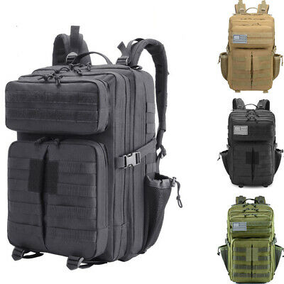 45L Tactical Military Large Backpack Molle Sports 3-Day Pack Hiking Rucksack Bag