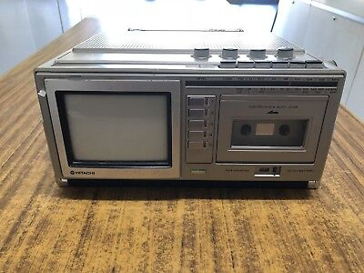 Vintage Hitachi Colour TV (Colour TV,FM/MW/LW Radio,Cassette Recorder)