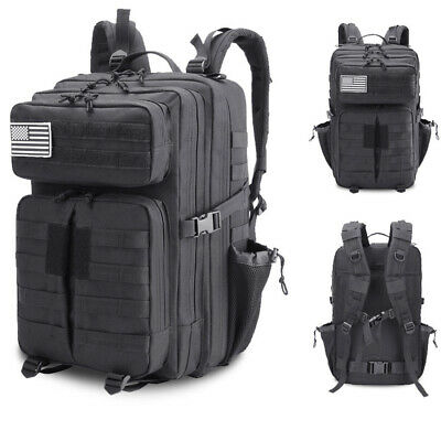 45L Outdoor Hiking Camping Bag Army Military Tactical Rucksack Backpack Trekking