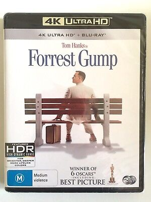 NEW Forrest Gump 4K Bluray UHD Ultra Drama Zemeckis Tom Hanks Sally Field
